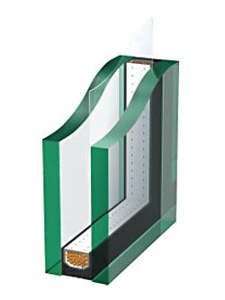エコガラス(本社2,3階窓ガラスに採用)