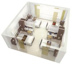 パネルユニットシステム(病室準個室化)
